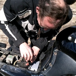 battery service on a Triumph Tiger Birmingham Alabama